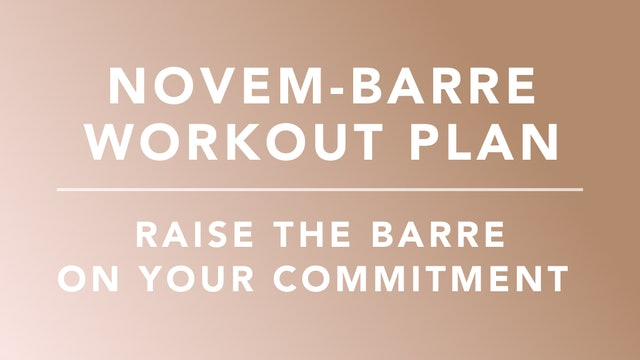 Novem-barre Workout Plan