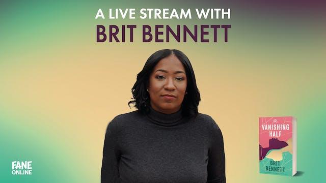 A Live Stream with Brit Bennett: 13 Aug 18:30