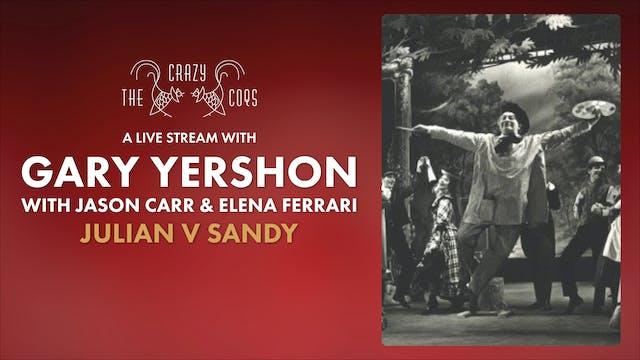 A Live Stream with Gary Yershon: 15 Sep 19:00