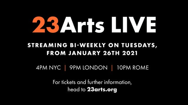 23 Arts Live: Fictions - 9 Feb 9PM UK
