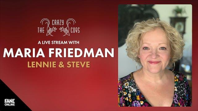 A Live Stream with Maria Friedman: 25 Sep 19:00