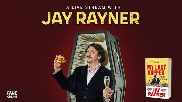 A Live Stream with Jay Rayner: 4 Sep 19:15