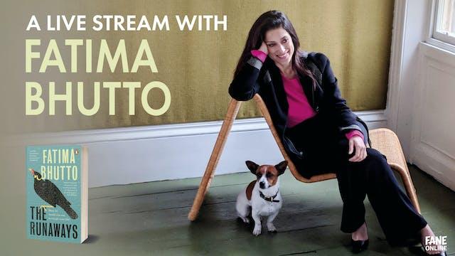 A Live Stream with Fatima Bhutto: 1 Nov 18:30
