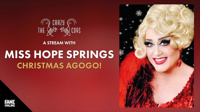 A Live Stream With Miss Hope Springs:11 Dec 20:30