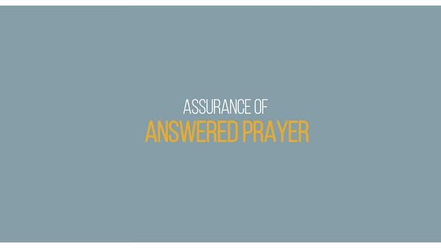Ep 3 - Assurance of Answered Prayer -...