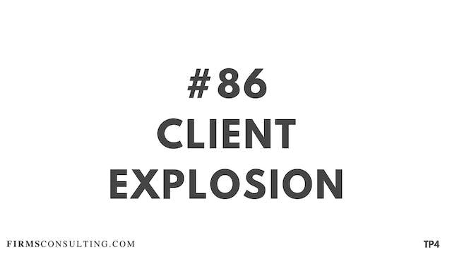 86 BAR 19.14 Client explosion