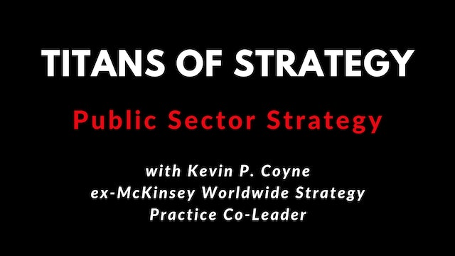 TOS Public Sector Strategy with Kevin P. Coyne 4K
