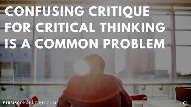 329 FCI Confusing critique for critical thinking