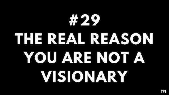29 TP1 The real reason you are not a visionary