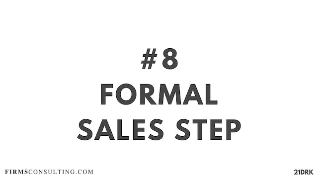 8 21D PS Formal sales step