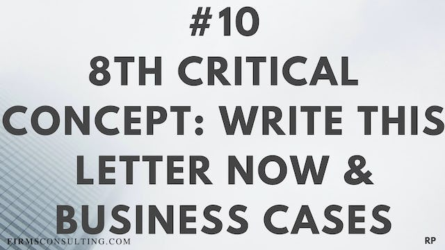 10 RP 8th Insight. Write this letter now & business cases