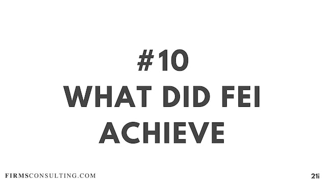 10 21D I What did Fei achieve & Critical Lessons