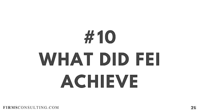 10 21D I What did Fei achieve & Criti...