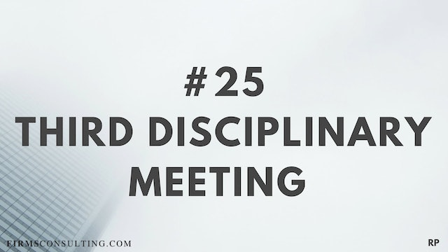25 RP 15.11 Third disciplinary meeting