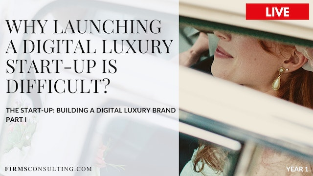 TSU 1. Why launching a luxury start up is difficult
