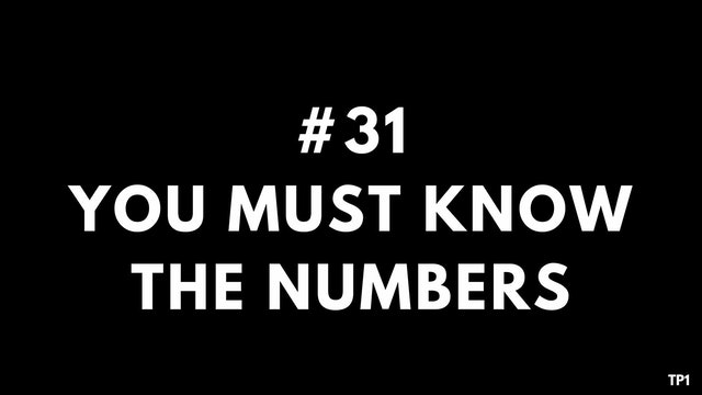 31 TP1 You must know the numbers