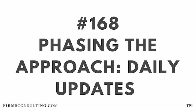 168 113.24 TP1 Phasing the Approach - daily updates
