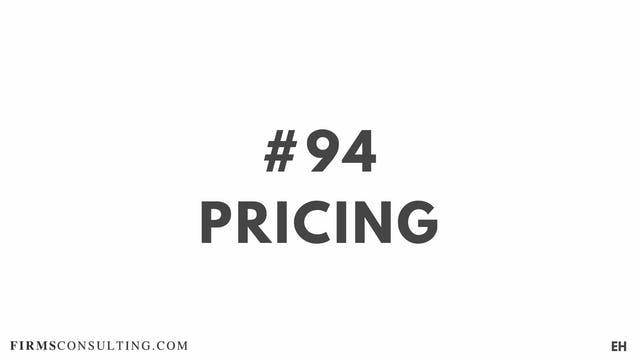 94 16 3 EH Pricing analysis
