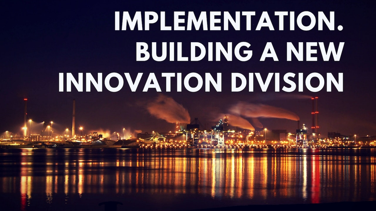 Implementation: Building an Innovation Division