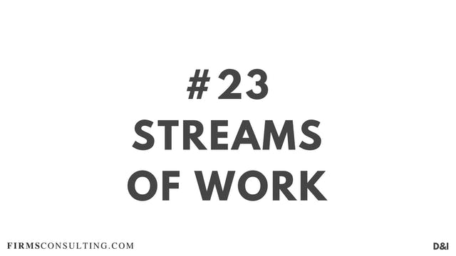 23 D&IT Streams of work