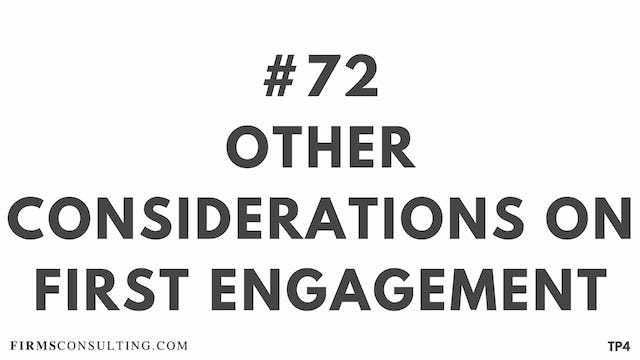 72 BAR 18.19 TP4 Other considerations on first engagement
