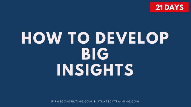 How to Develop Big Insights