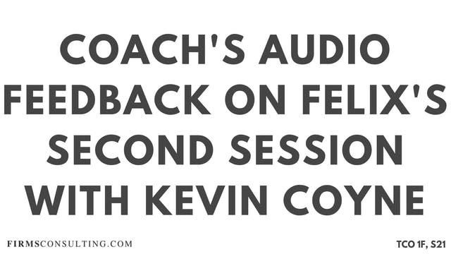 S4 Kevin Coyne Mentoring, Felix Sessi...