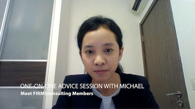 1 1O1 Case Interviews One-On-One Advice Session with Michael (Cherry, Singapore)