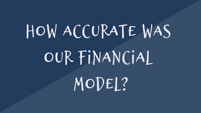 84 FSS How accurate was our financial model for the market entry strategy study