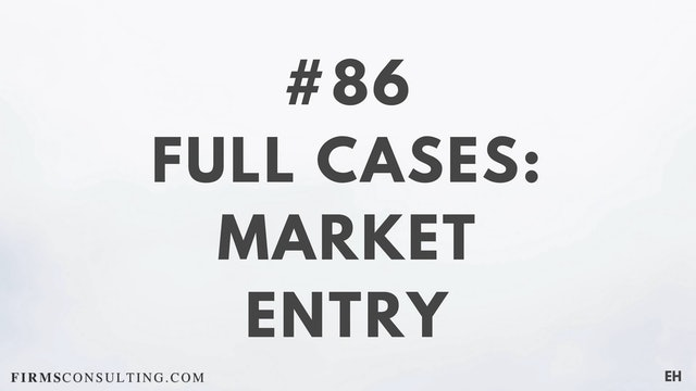 86 15 3 3 1 EH Market entry cases. Part 1