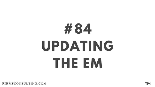 84 BAR 19.12 Updating the EM