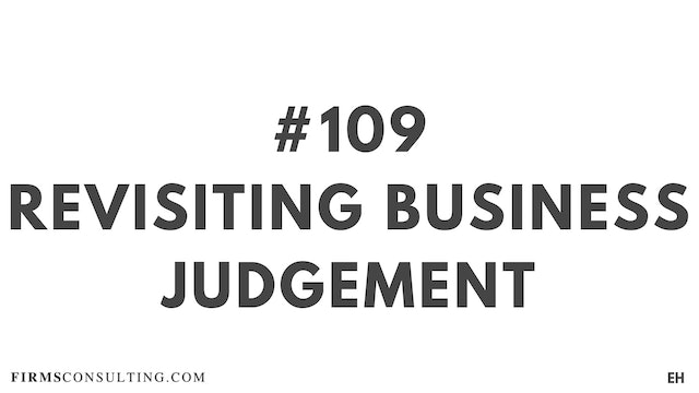 109 18 EH Revisiting business judgement