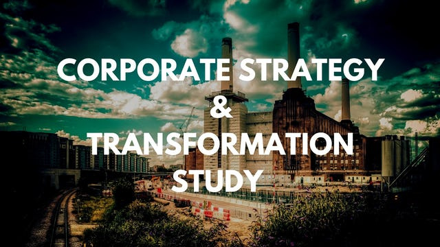 1 5 What is the overall process  for corporate strategy studies?