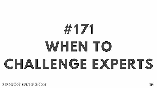 171 113.27 TP1 When to challenge experts