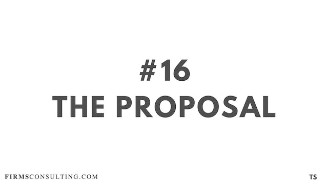 16 TS 15 The proposal