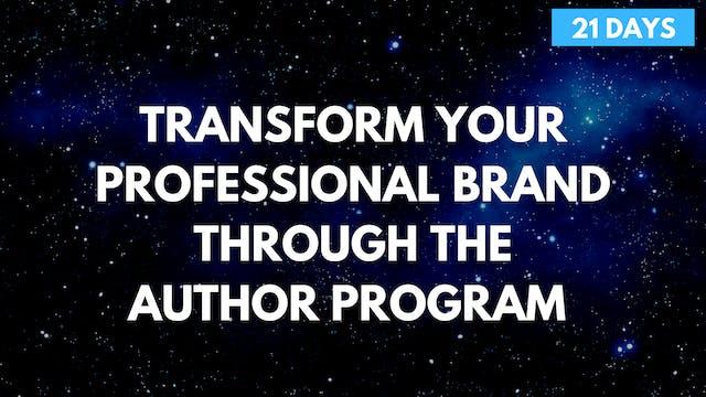 Transform Your Professional Brand Through the Author Program
