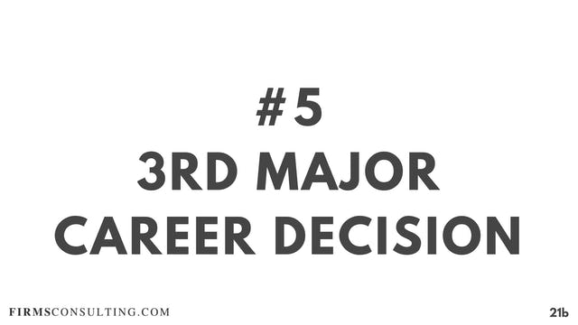 5 21D RC 3rd major career decision