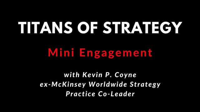 Managing a Mini Engagement with Kevin P. Coyne 4K