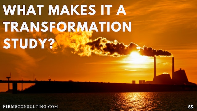 65 FSS What makes it a transformation study?