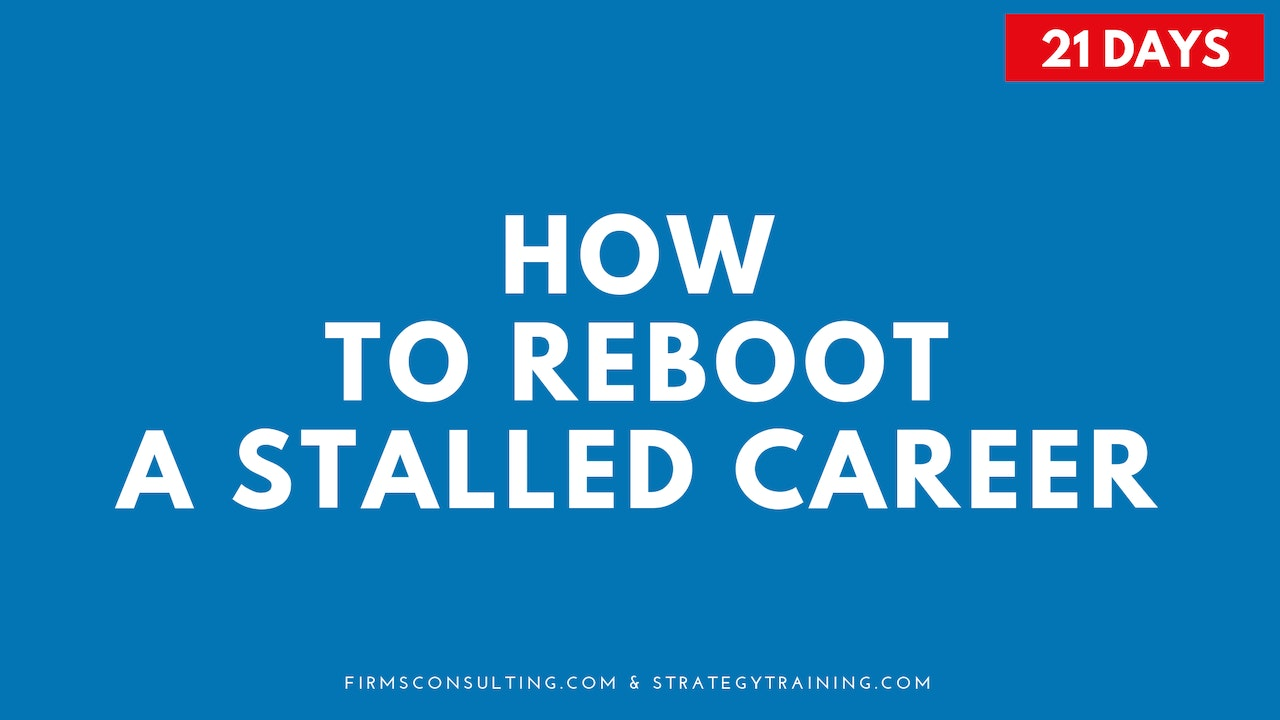 How to Reboot a Stalled Career