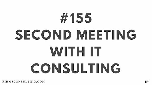 155 113.11 TP1 Second meeting with IT Consulting. Problems with internal consulting