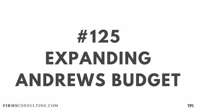 125 108 TP1 Expanding Andrews Budget