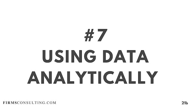 7 21D RC Using data analytically