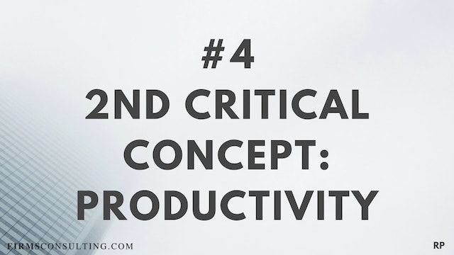 4 RP 2nd Insight. Productivity