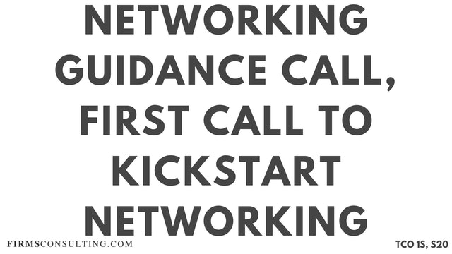 N1 Networking Guidance Call, Sanjeev Session 20, First Call to Kickstart Sanjeev's Networking
