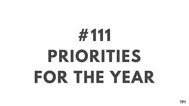 111 94 TP1 Priorities for the year
