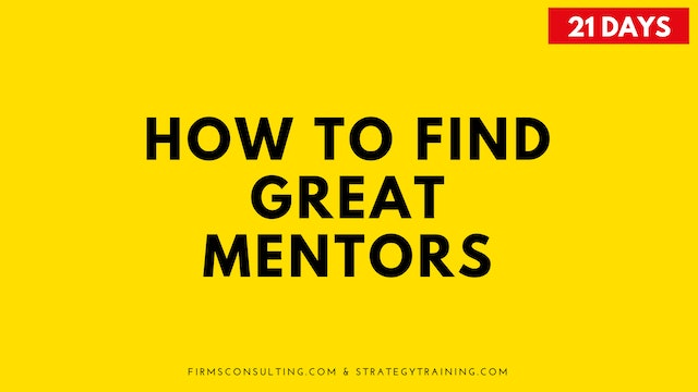 How to Find Great Mentors