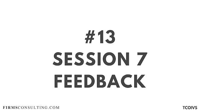 13 TCOIV Sizan. Session 7 feedback