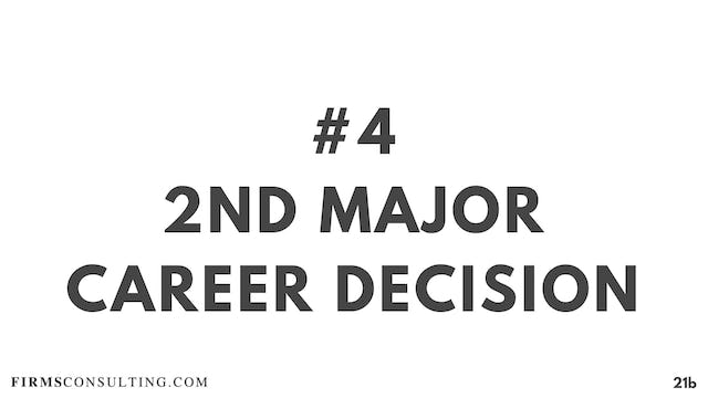 4 21D RC 2nd major career decision