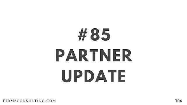 85 BAR 19.13 13. Partner update